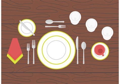 Dinner Table Setting   Download Free Vector Art, Stock
