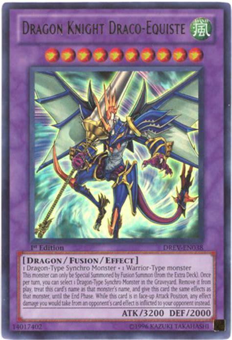 yu gi  card drev en dragon knight draco equiste