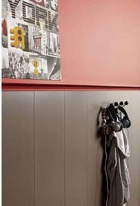 Couleur Mur Salle De Bain : lambris pvc pose plafond murs imitation bois couleur taupe ~ Dode.kayakingforconservation.com Idées de Décoration