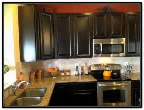 painted kitchen cabinet color ideas espresso kitchen cabinets with backsplash home design ideas