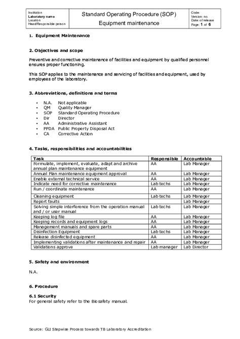 4 Sop Equipment Maintenance V Wellington Akuinor