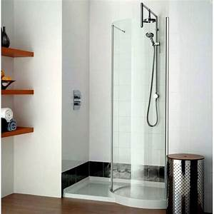 Matki original 1200 walk in curved recess shower enclosure for Shower cubicles for small bathrooms uk