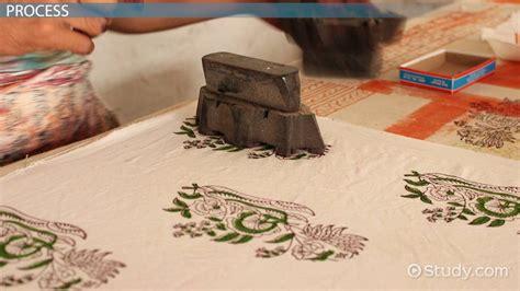 block printing  textiles video lesson