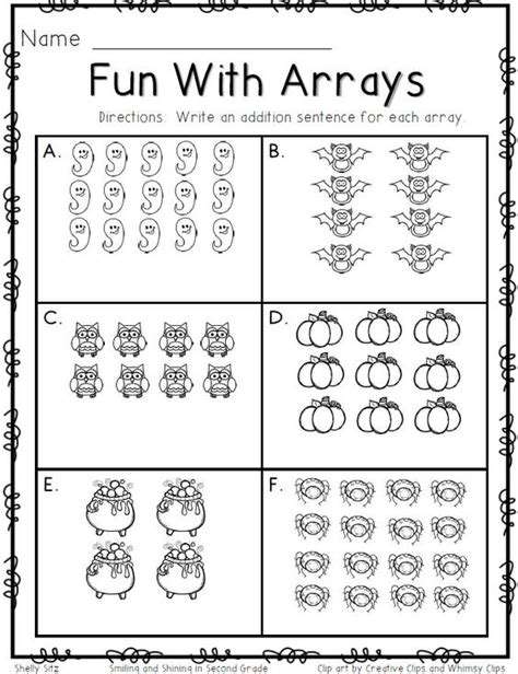 smiling and shining in second grade arrays