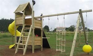 Aire De Jeux En Bois Pour Particulier : portique balancoire bois belgique ~ Dailycaller-alerts.com Idées de Décoration