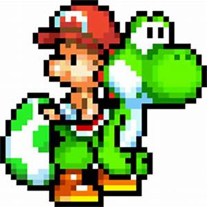 Yoshi's Island DS Yoshi and Baby Mario Sprite by ...
