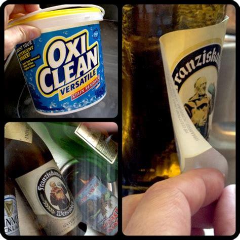 remove labels  beer bottles