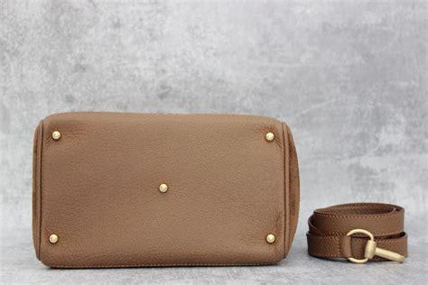 gucci tan suede leather bamboo handle bag  jills