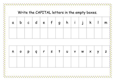alphabet worksheets tes useful alphabet writing worksheets uk on capital letter
