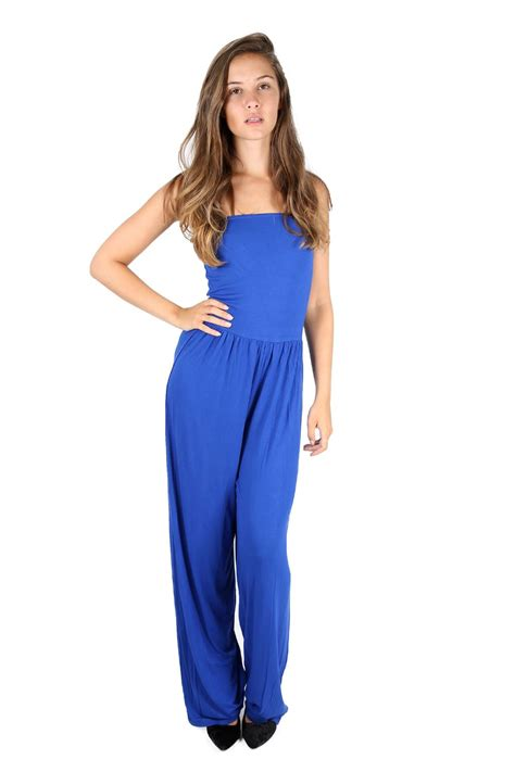 ebay jumpsuit wide leg palazzo casual boobtube rompers