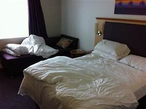 1 standard full size bed 1 small sofa bed not a twin for Hotel room with sofa bed