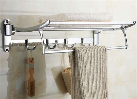 Bathroom Towel Shelves with Hooks