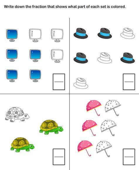 learn fraction worksheets for kids first grade worksheets
