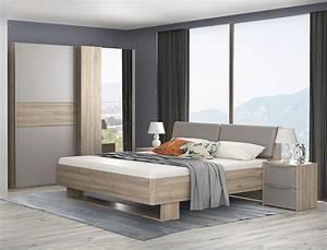 Schlafzimmer Komplett Set : schlafzimmer set komplett 4 teilig bianco eiche basalt ~ Watch28wear.com Haus und Dekorationen