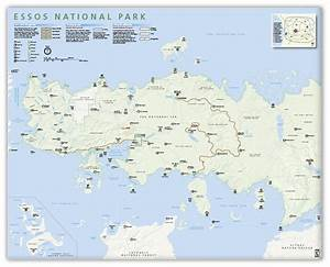 KnerdKraft - Essos Map National Park Style 16x20 Poster