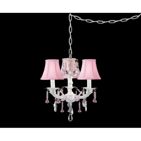 pretty in pink swag style in mini chandelier