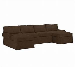pb basic 3 piece u shaped sectional slipcover With u shaped sectional sofa covers