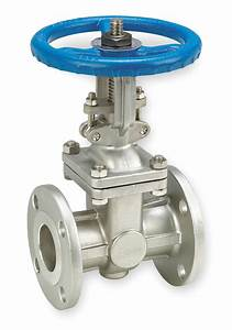 Grainger Approved Class 150 Flange Outside Stem And Yoke Gate Valve  Inlet To Outlet Length  6