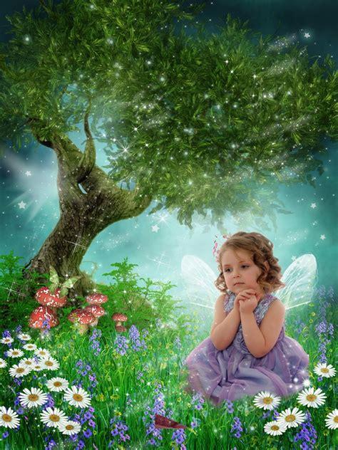 enchanted meadow fairytale photo art