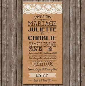 Chic Et Champetre : faire part mariage rustique chic champetre d coration de mariage en 2019 wedding prints ~ Melissatoandfro.com Idées de Décoration