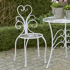 Gartenmöbel Weiß Metall : 2tlg gartenstuhl set nostalgie wei aus metall romantisch verzierte st hle ~ Frokenaadalensverden.com Haus und Dekorationen