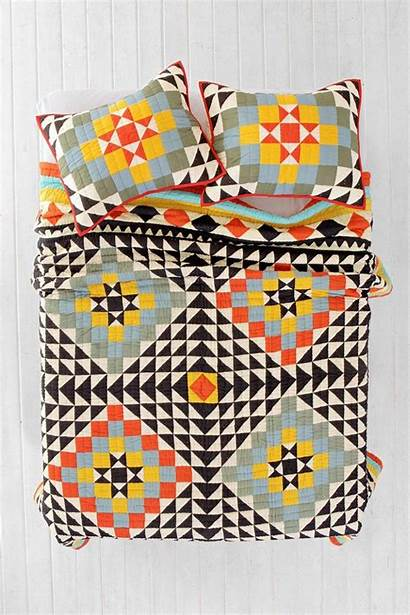 Quilt Patchwork Kaleidoscope Urban Outfitters Quilts Patterns
