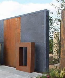 Holzwände Für Garten : garten im quadrat sichtschutz element aus stahl moderne rost optik f r den garten ~ Sanjose-hotels-ca.com Haus und Dekorationen