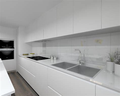 interior design of a kitchen modelo laminado blanco encimera silestone blanco suede 7576