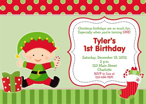 first birthday christmas party invitation by thebutterflypress