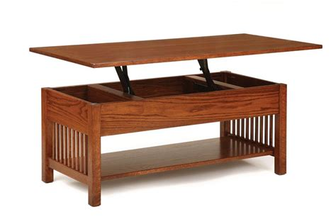 coffee table with lift top classic mission rectangular coffee table with lift top from