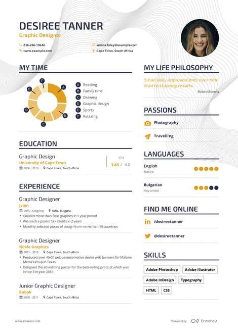 Design Your Own Resume by Graphic Designer Resume Exle And Guide For 2019