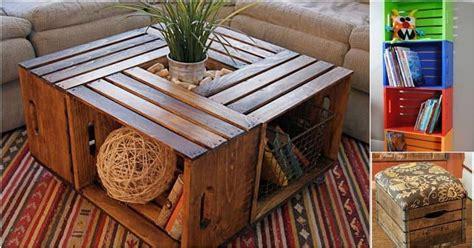 wooden crates  purposed  diy furniture  storage