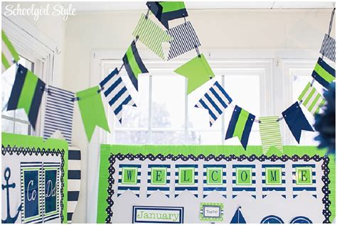 Preppy Nautical Classroom Theme Schoolgirlstyle