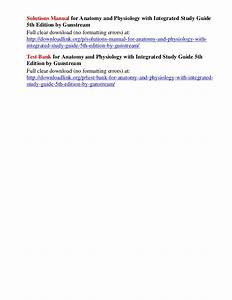 Solutions Manual For Anatomy And Physiology With