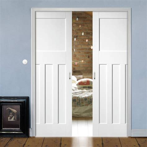 dx  panel double evokit pocket doors primed