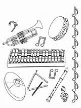 Clarinet Coloring Pages sketch template
