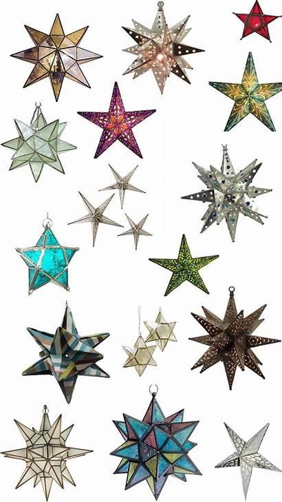 Star Mexican Lights Pendant Tin Stars Moravian