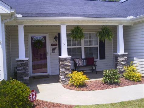 Rock Columns Porch by Diy Craftsman Style Columns My Husband And I Did On