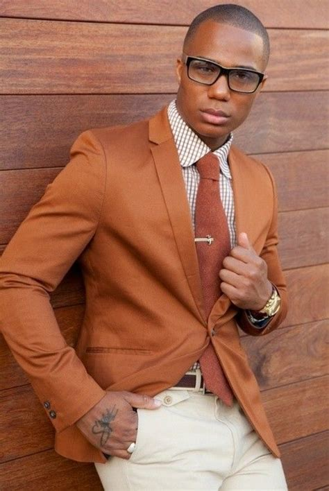 men s tobacco blazer white and brown gingham dress shirt