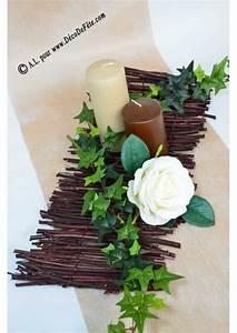 Centre De Table Chocolat : 1 centre de table bois chocolat ~ Zukunftsfamilie.com Idées de Décoration