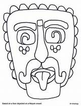 Mayan Coloring Mask Aztec Inca Pages Maya Mesoamerican Mexican Empire Different Worksheets Sun Masks Spanish Mexico Printable Bunch Aztecs Incas sketch template