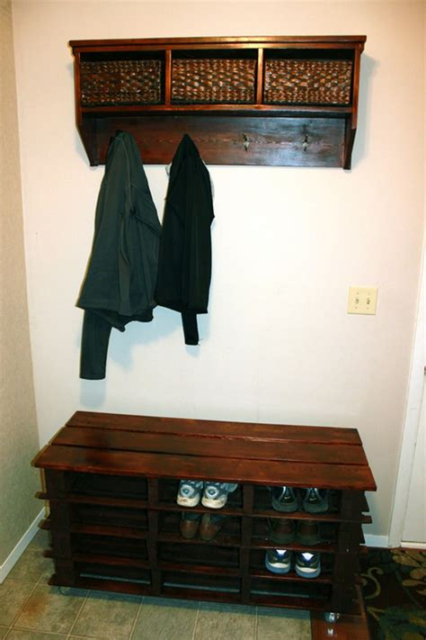 pallet entryway bench  owner builder network