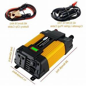 6000w Peaks Car Power Inverter Dc 12v To