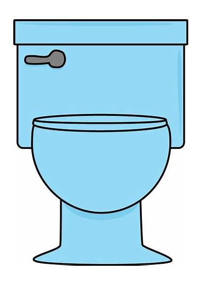 Toilet Bathroom Clipart Clip Potty Cartoon Signs