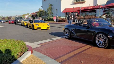 We had the san diego ferrari club that made the drive. 2020 Cars and coffee san Clemente ca roll in #2 - YouTube