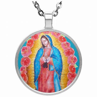Lady Guadalupe Circle Necklace Catholic Christian