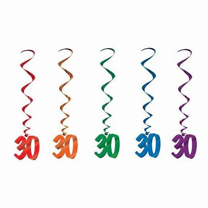 Birthday Number 30th Party Decorations Danglers Whirls