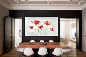 Grand Cadre Deco : tableau grand format fleurs rouges izoa ~ Teatrodelosmanantiales.com Idées de Décoration