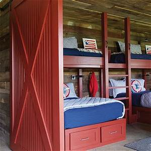 boys rooms hallway window design ideas With barn door bunk bed prices