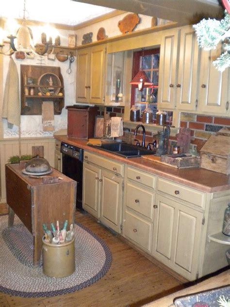 primitive kitchens images  pinterest colonial
